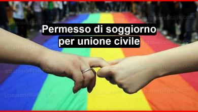 Photo of Permesso di soggiorno per unione civile