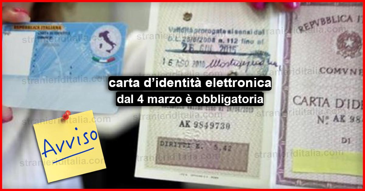 La carta d identità elettronica dal 4 marzo è obbligatoria