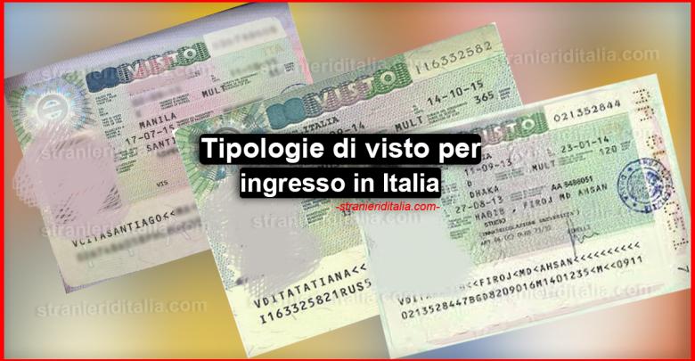 Tipologie di visto per ingresso in Italia