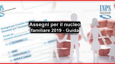 Photo of Assegni per il nucleo familiare 2019 – Guida completa..