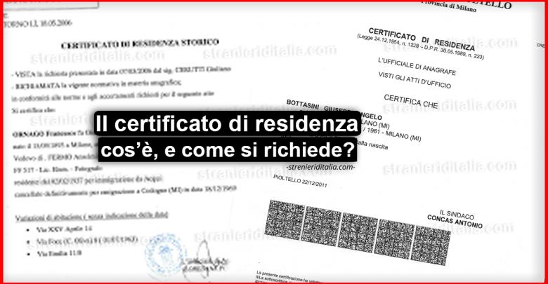 Il certificato di residenza: cos'è, quanto costa e come si richiede?