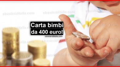 Photo of Carta bimbi da 400 euro: cos'è e come funziona?