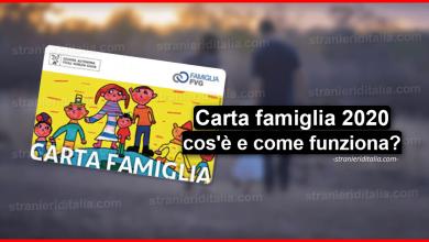 Photo of Carta famiglia 2020 (cos'è e come funziona)   Stranieri d'Italia
