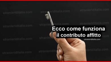 Photo of Contributo affitto 2020: Cos'è e come funziona   Stranieri d'Italia