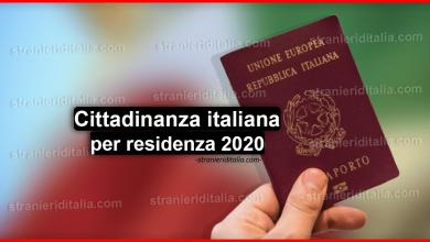 Photo of Documenti per cittadinanza italiana per residenza 2020 – (lista aggiornata)