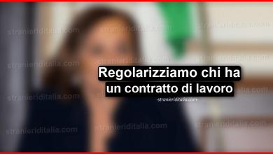 """Photo of Sanatoria 2020: """"Regolarizziamo chi ha un contratto di lavoro"""""""