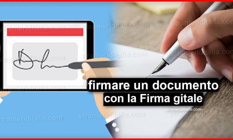 Come firmare un documento con la Firma digitale | Stranieri d'Italia