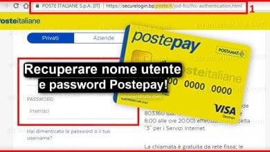 Photo of Come recuperare nome utente e password Postepay
