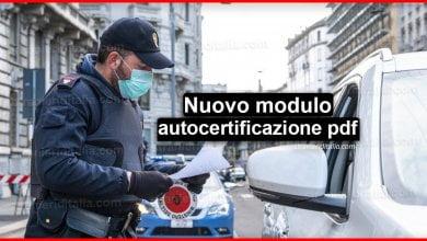 Photo of Nuovo modulo autocertificazione pdf Coronavirus 23 marzo