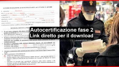 Photo of Autocertificazione fase 2 modulo pdf