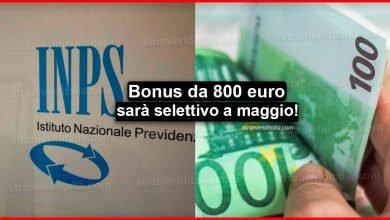 Photo of Bonus da 800 euro: Da automatico diventa selettivo a maggio!