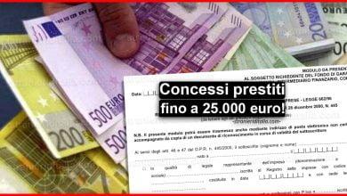 Photo of Concessi prestiti fino a 25.000 euro: Ecco il modulo (PDF)