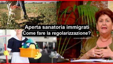 Photo of Aperta Sanatoria migranti, braccianti, colf e badanti: Ecco come fare