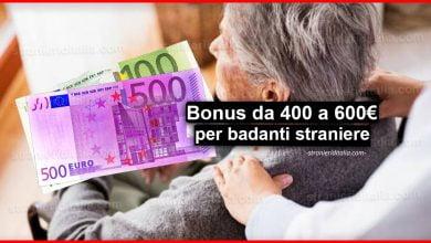 Photo of Bonus da 400 a 600 euro badanti straniere con decreto maggio
