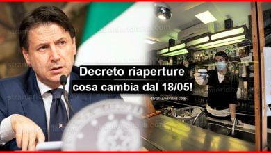 Photo of Decreto riaperture, il testo pdf: Ecco cosa cambia dal 18 maggio