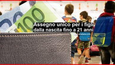 Photo of Assegno unico per i figli dalla nascita fino a 21 anni!