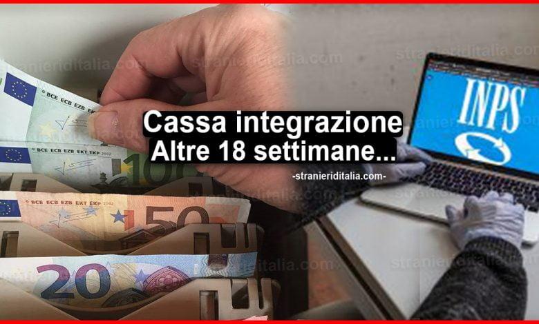 Cassa integrazione: Altre 18 settimane in decreto agosto