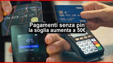 Photo of Pagamenti in contactless senza pin: dal 2021 la soglia aumenta a 50 euro