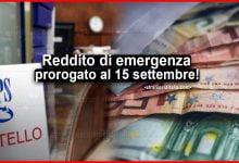 Photo of Reddito di emergenza prorogato al 15 settembre!