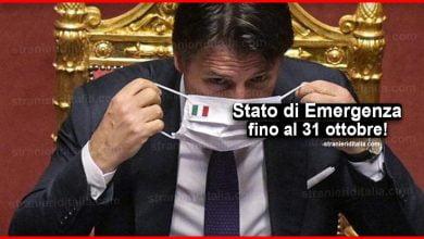 Photo of Stato di Emergenza fino al 31 ottobre: Ecco le variazioni!
