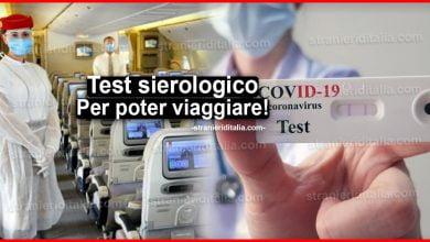 Photo of Test sierologico coronavirus: Per poter viaggiare all'estero!
