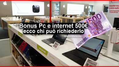 Photo of Bonus Pc e internet da 500 euro: ecco chi può richiederlo in base all'Isee