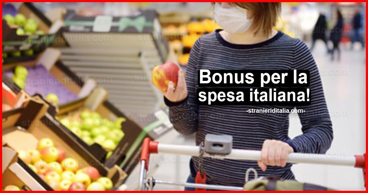 Bonus per la spesa Italiana: non occorre la carta di credito!