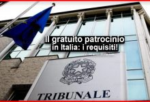 Photo of Il gratuito patrocinio in Italia: Requisiti e limiti di reddito per il 2020