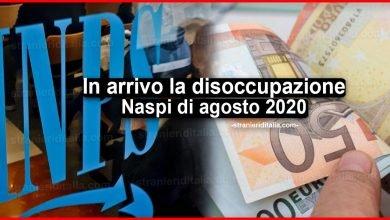 Photo of In arrivo la disoccupazione Naspi di agosto 2020