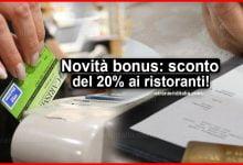 Photo of Novità bonus con il Decreto Agosto: sconto del 20% ai ristoranti