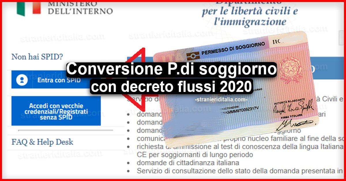 Conversione permesso di soggiorno con decreto flussi 2020 ...
